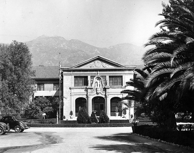 Partial view of the Villa Cabrini Academy, June 6, 1947. Order #00108835